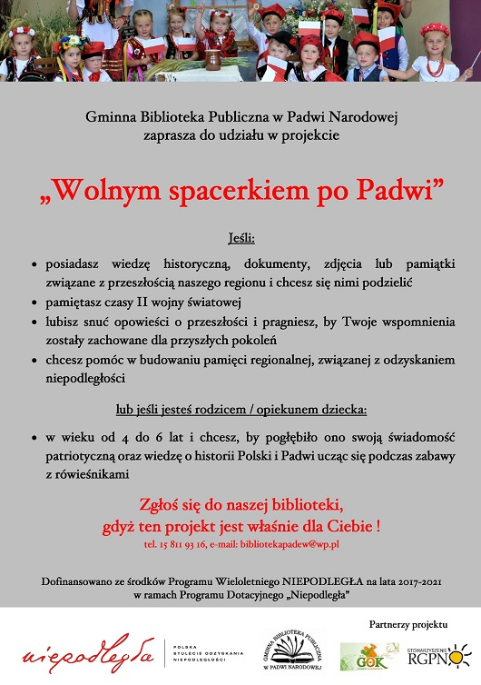 """Zaproszenie do udziału w projekcie """"Wolnym spacerkiem po Padwi"""""""